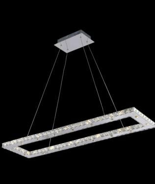 "Geometric led modern ceiling light fixture 4528 - L42"" W12"" H1.5"" Lt32 LED"