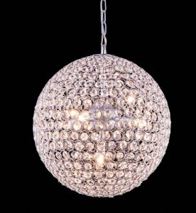 "Ball of lighted crystal chandelier 4531 - D20"" H20"" Lts:9"