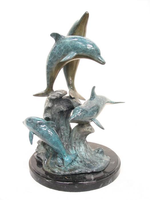 """6508 - FLOCK OF DOLPHINS 22""""H x 16""""W x 13""""D"""
