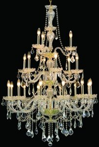 "Multi tiered cut crystal draped chandelier 4535 - D38"" H53"" L21"
