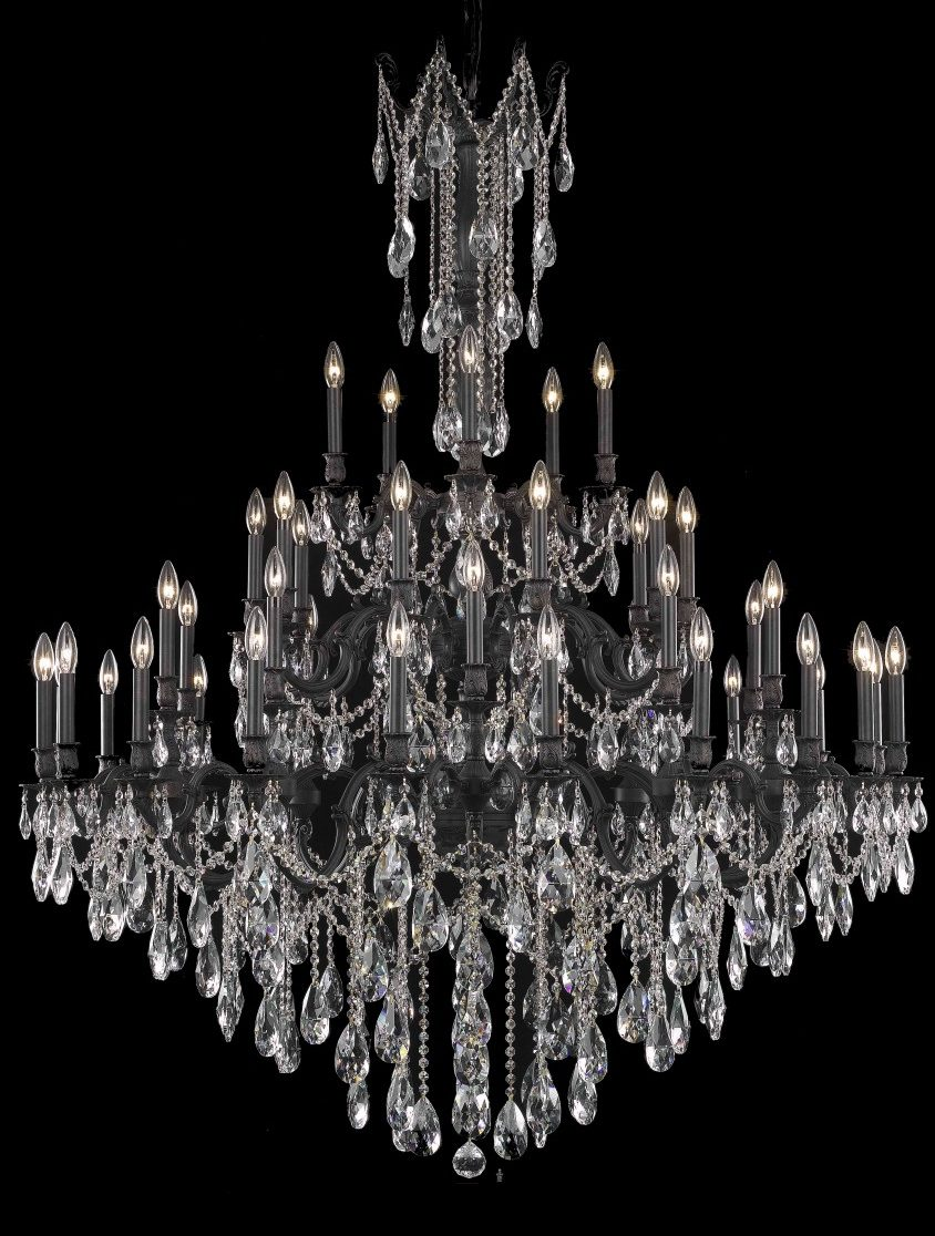 "Draped crystal chandelier 4548 - D54"" H66"" LT:45"