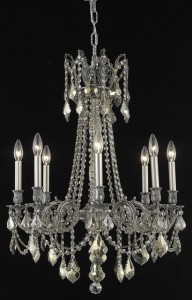 "chandelier with crystal pendants 4550 - D24"" H30"" LT:8"