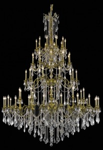 "Gorgeous large scale traditional chandelier 4552 - D72"" H96"" LT:60"