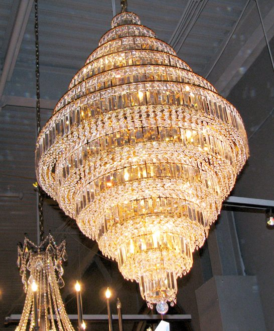 Art deco geometric layered ring chandelier 4515