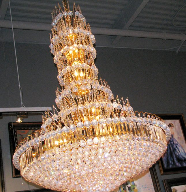 Fantastic crown of leaves chandelier 4512