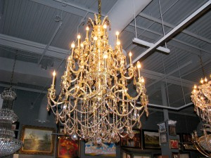 draped gold chandelier 4500