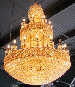 Tower of gold chandelier 4503